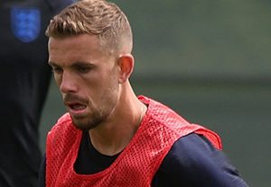 Jordan Henderson training for England, pic by Кирилл Венедиктов under creative commons licence