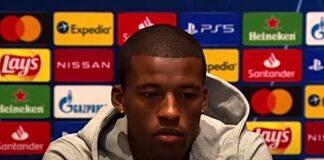 Wijnaldum press conference v Ajax