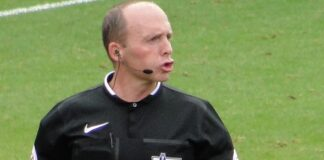Mike Dean , PL referee from Wirral - pic under creative commons by Egghead