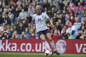Toni playing for England against Montenegro<br /> James Boyes John Doe / CC-BY-SA-3.0