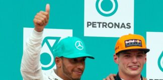 640px-Podium_2017_Malaysia,_Lewis_Hamilton_and_Max_Verstappen from creative commons by Morio