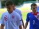 Former Everton starlet Luke Garbutt playing for England under-19s in 2012.